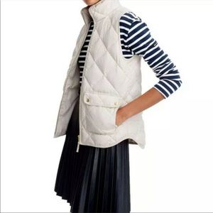 J. Crew Excursion Down Filled Puffer Vest Ivory